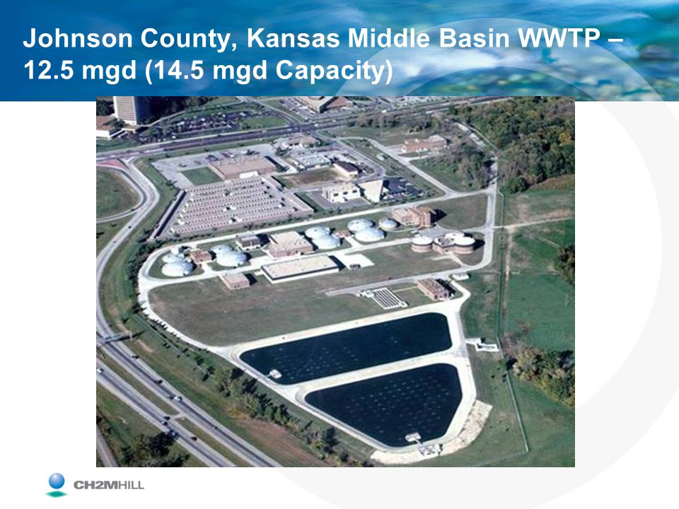 Johnson County, Kansas Middle Basin WWTP – 12. 5 mgd (14
