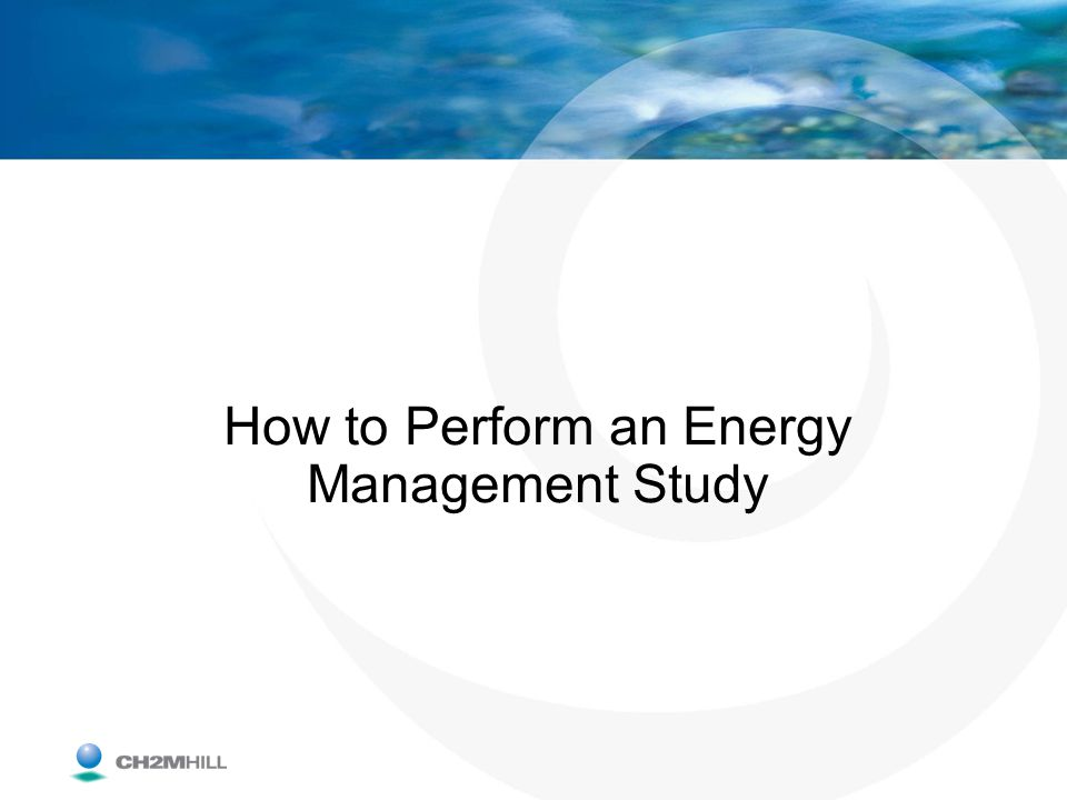 How to Perform an Energy Management Study