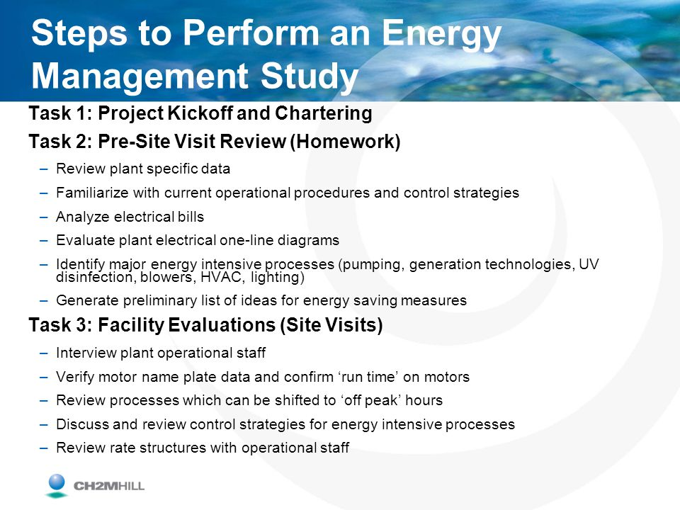 Steps to Perform an Energy Management Study