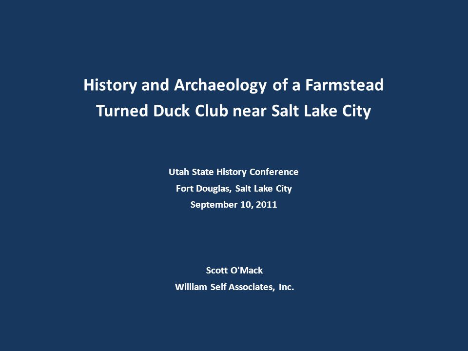 History and Archaeology of a Farmstead