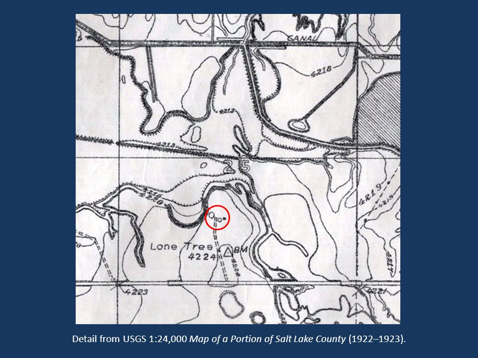 Detail from USGS 1:24,000 Map of a Portion of Salt Lake County (1922–1923).