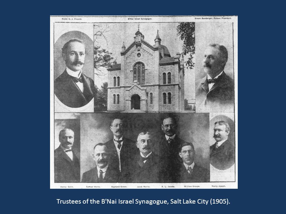 Trustees of the B Nai Israel Synagogue, Salt Lake City (1905).