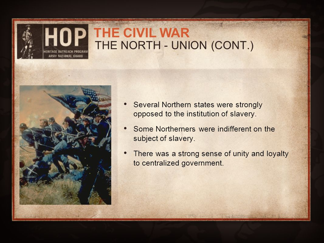 THE NORTH - UNION (CONT.)