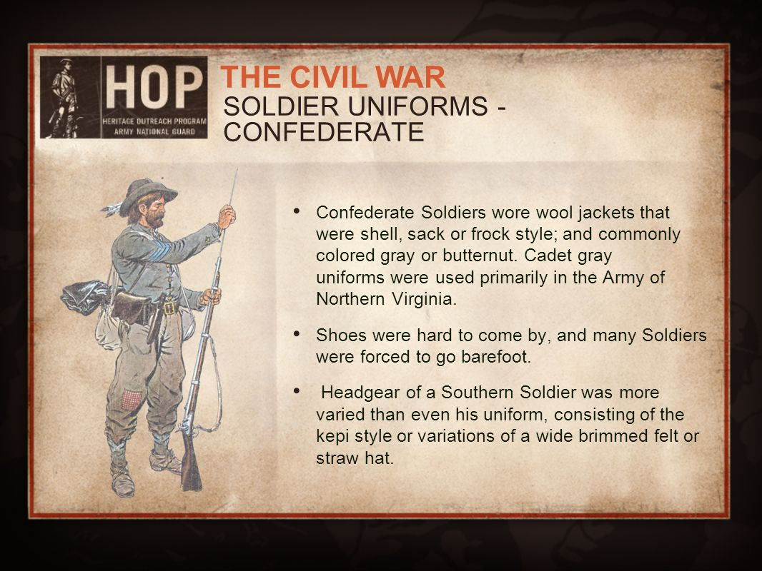 SOLDIER UNIFORMS - CONFEDERATE