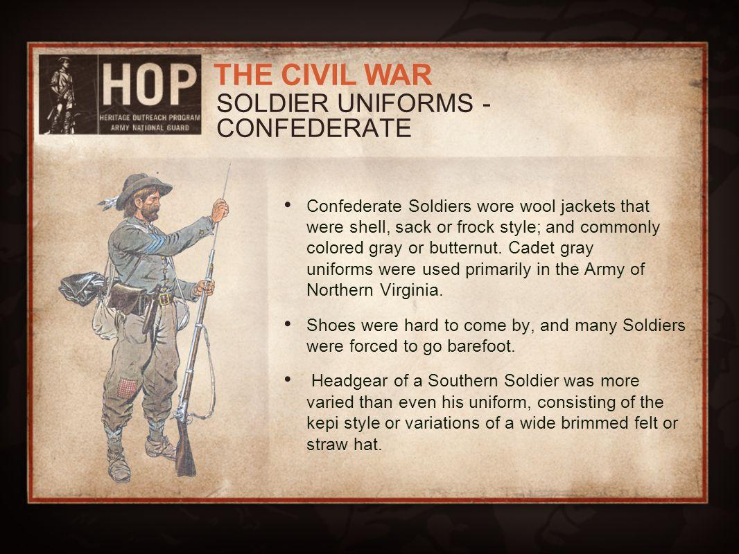 SOLDIER UNIFORMS - CONFEDERATE