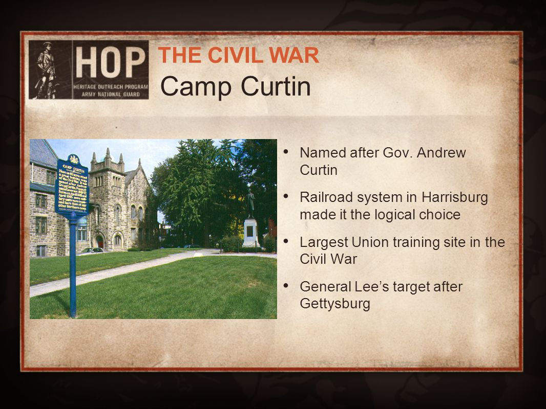 Camp Curtin Named after Gov. Andrew Curtin