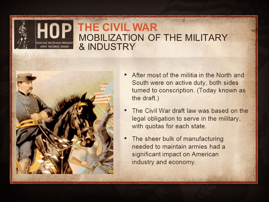 MOBILIZATION OF THE MILITARY & INDUSTRY