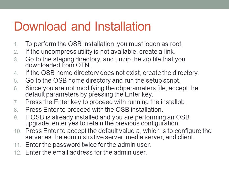 Download and Installation