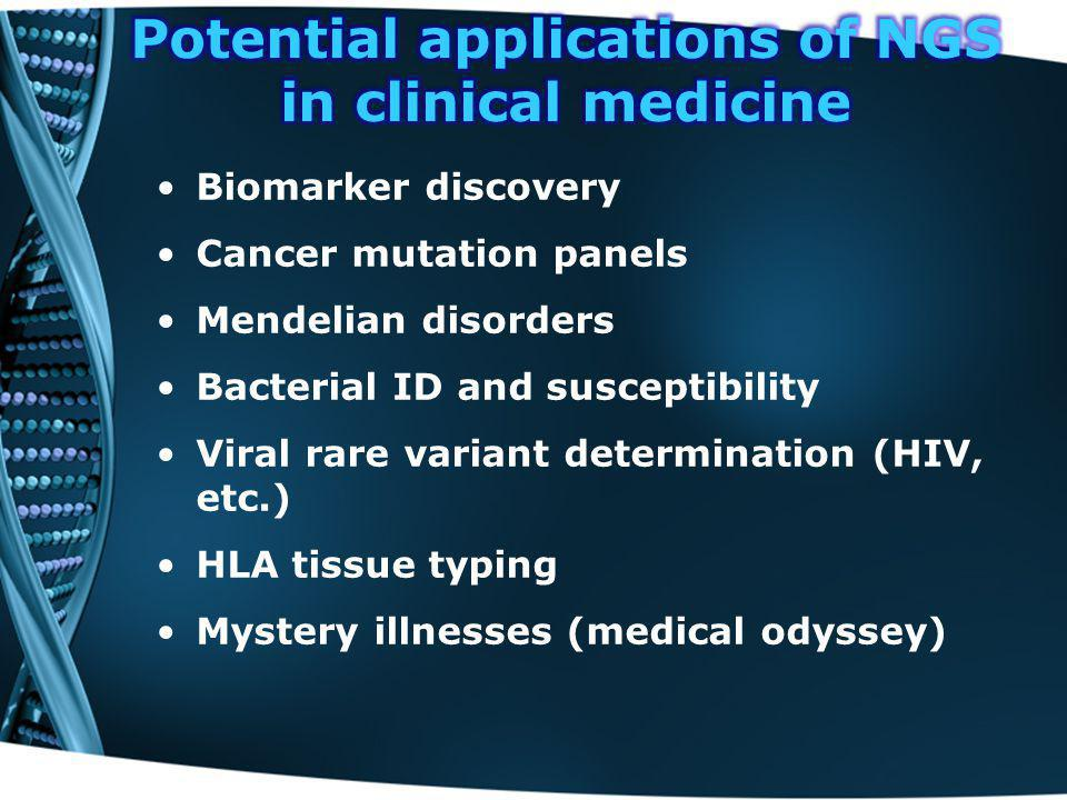 Potential applications of NGS in clinical medicine