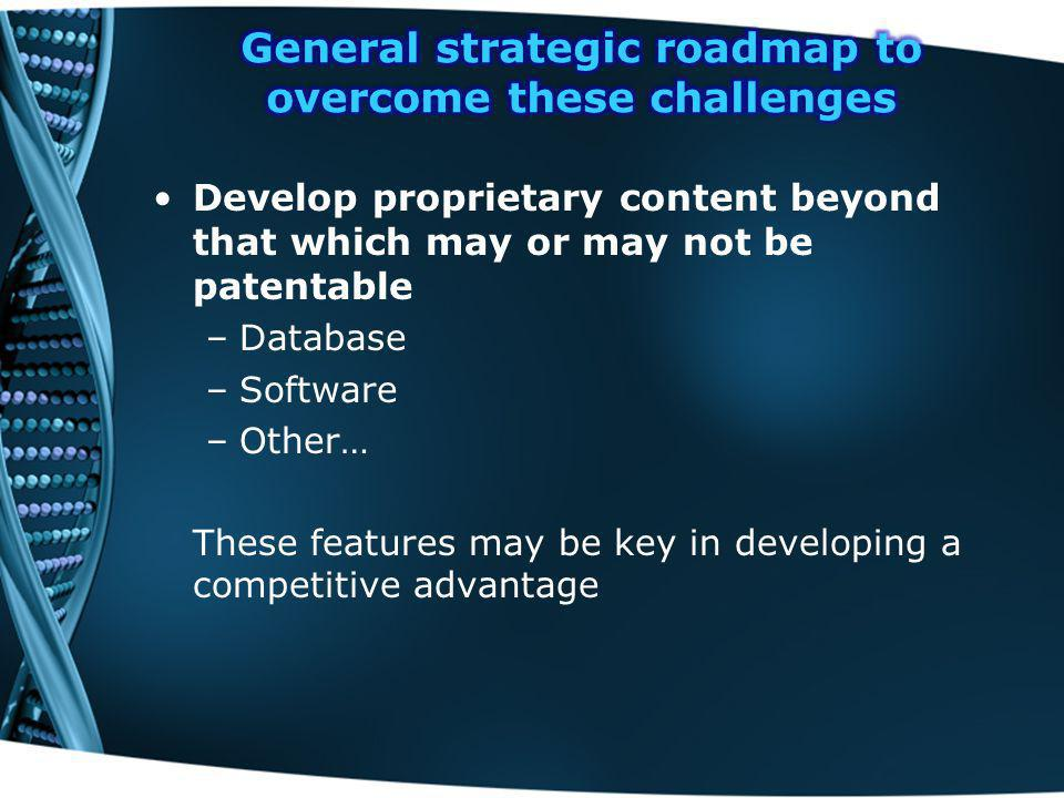 General strategic roadmap to overcome these challenges