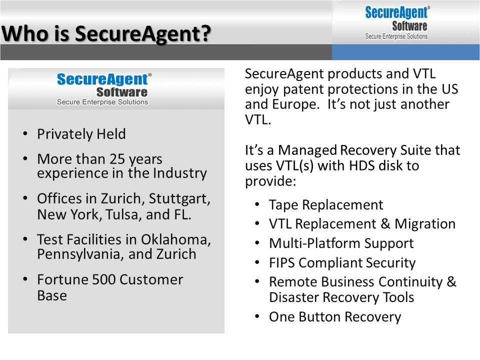 Who is SecureAgent Privately Held