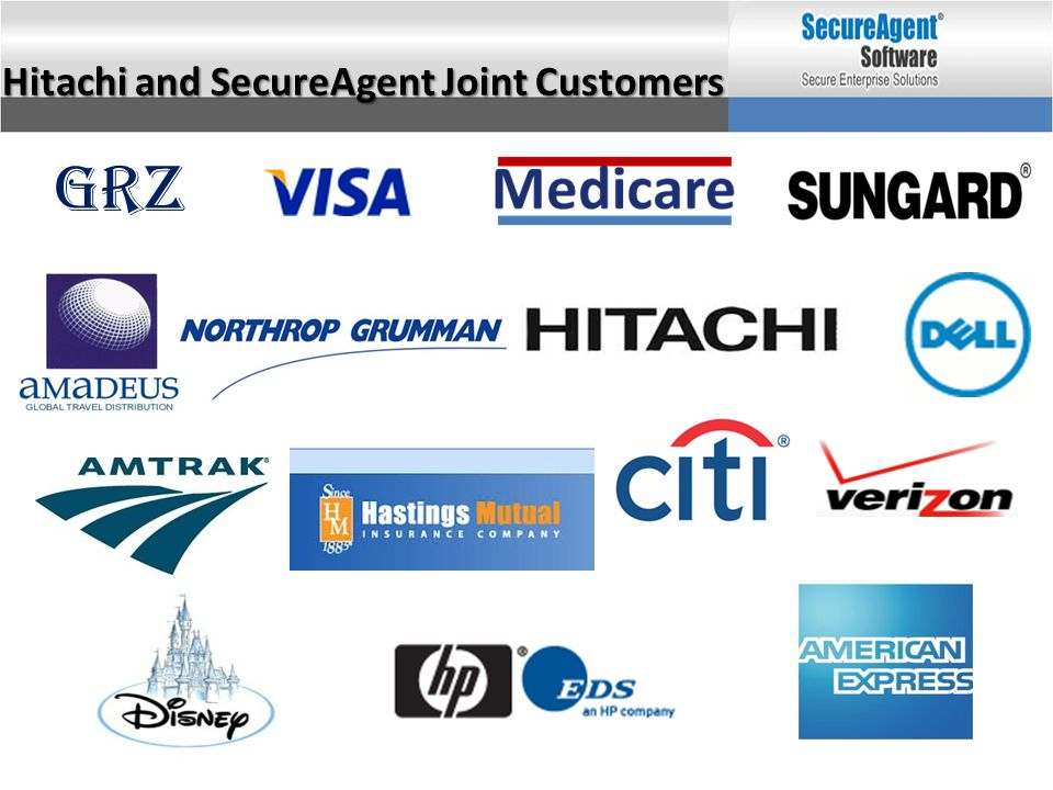 Hitachi and SecureAgent Joint Customers