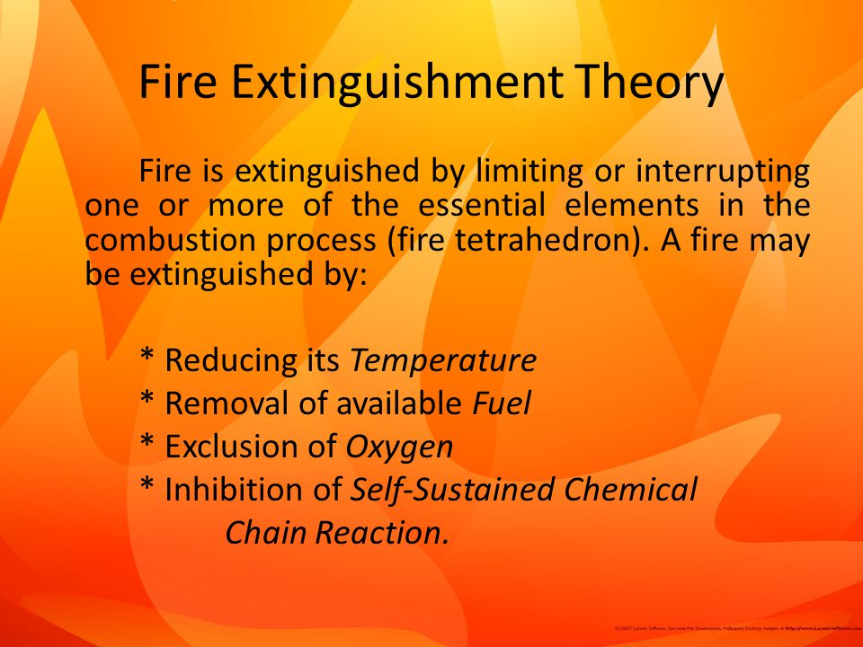 Fire Extinguishment Theory