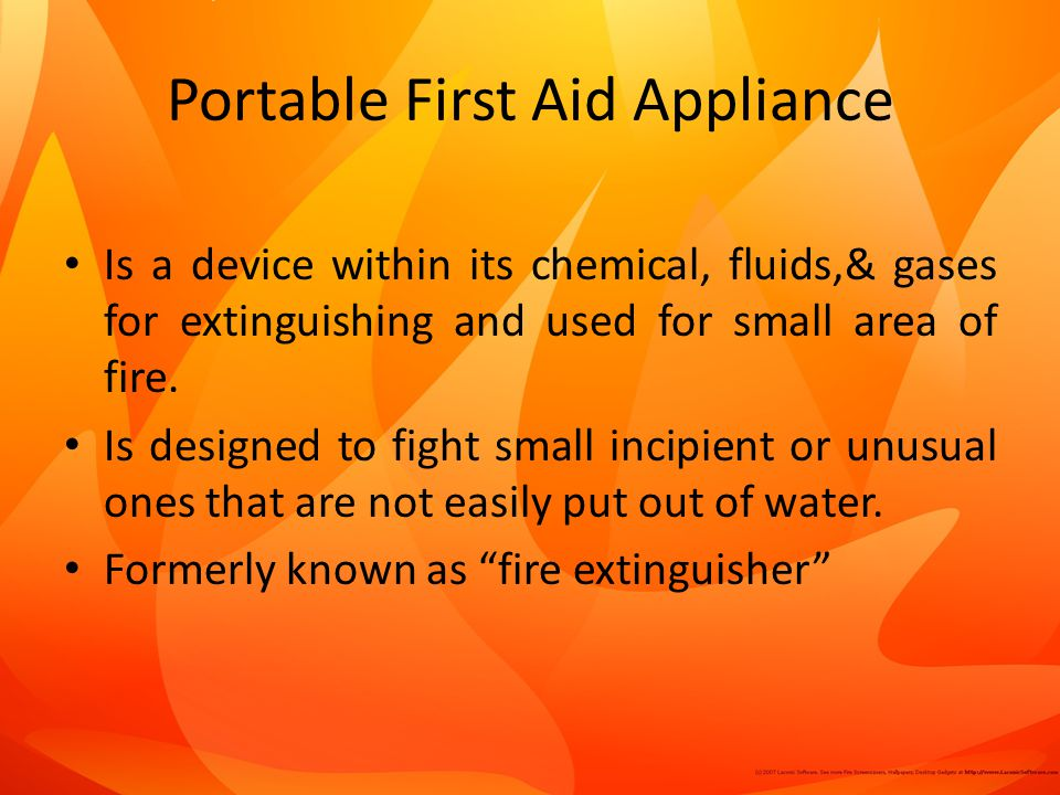 Portable First Aid Appliance