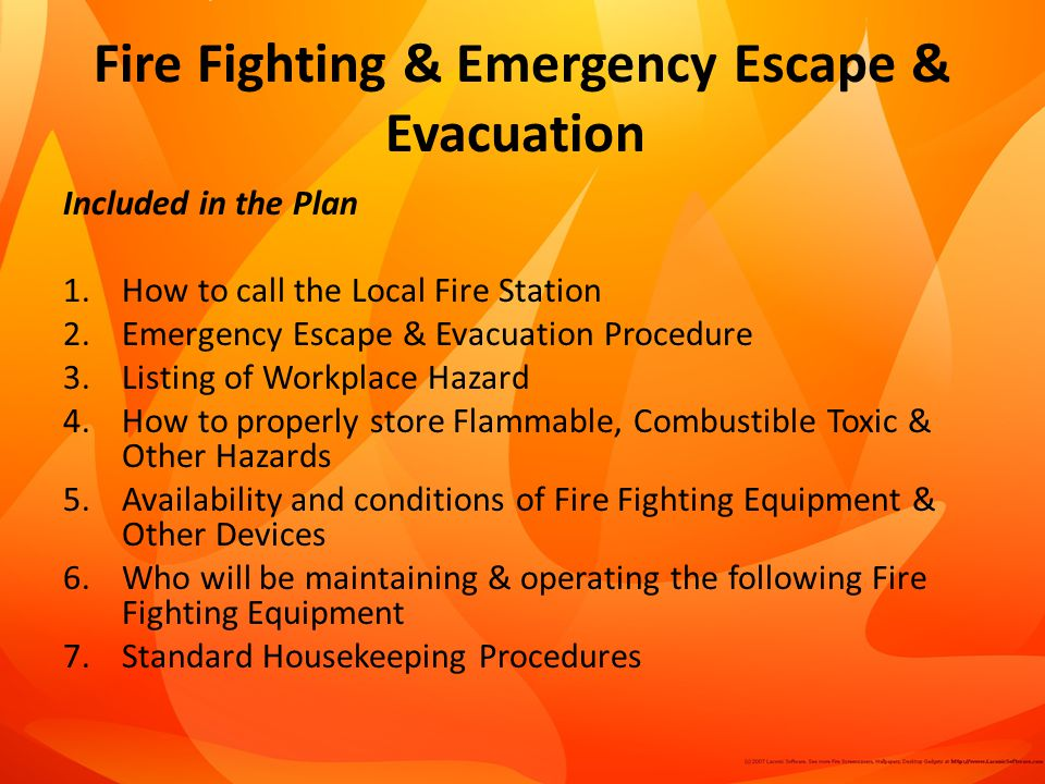Fire Fighting & Emergency Escape & Evacuation