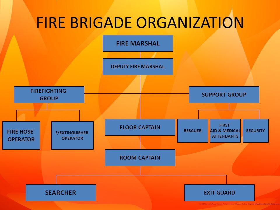 FIRE BRIGADE ORGANIZATION