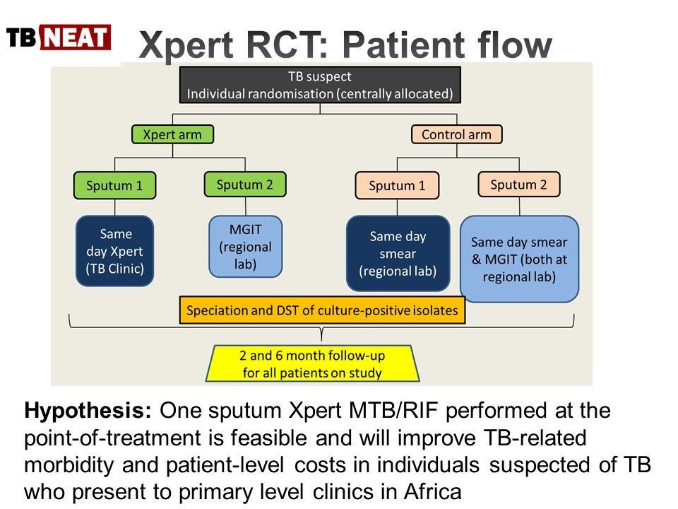 Xpert RCT: Patient flow