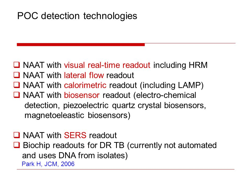 POC detection technologies
