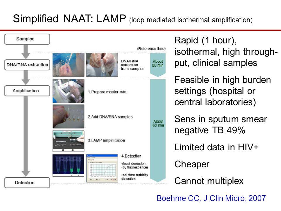 Simplified NAAT: LAMP (loop mediated isothermal amplification)
