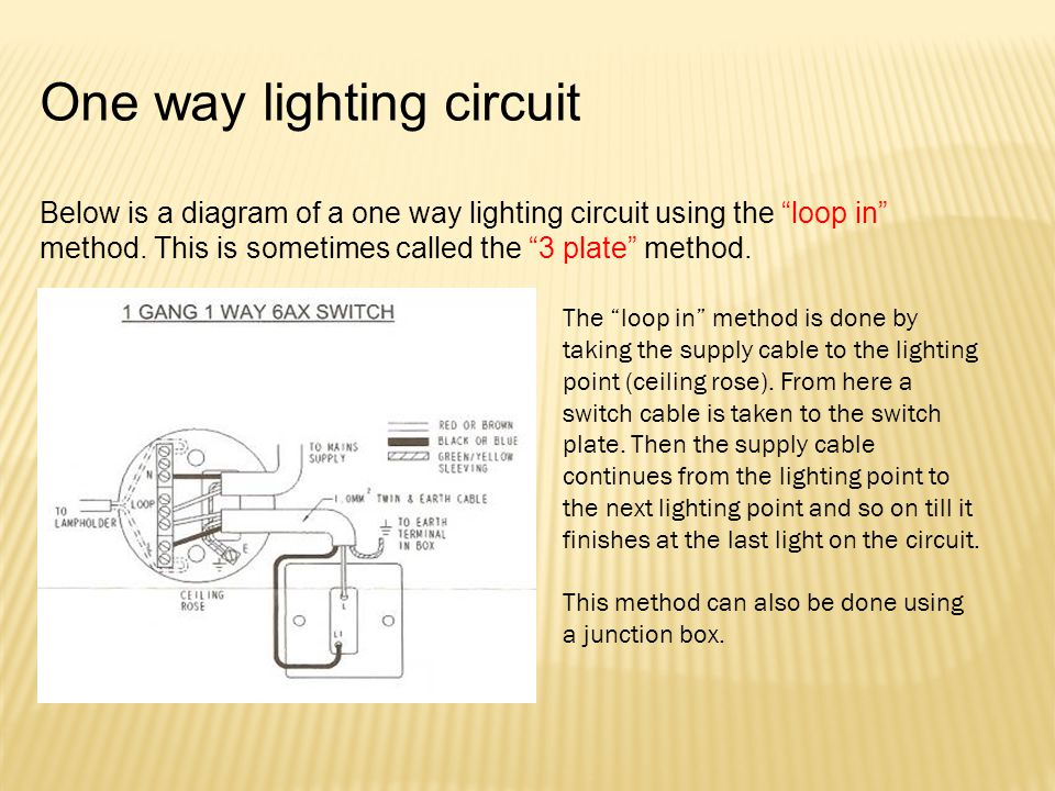 One way lighting circuit