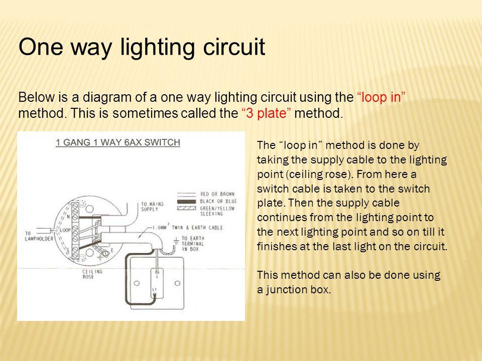 One way lighting circuit