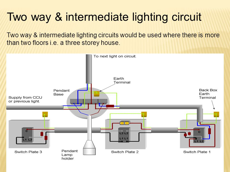 Two way & intermediate lighting circuit