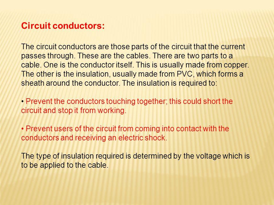 Circuit conductors: