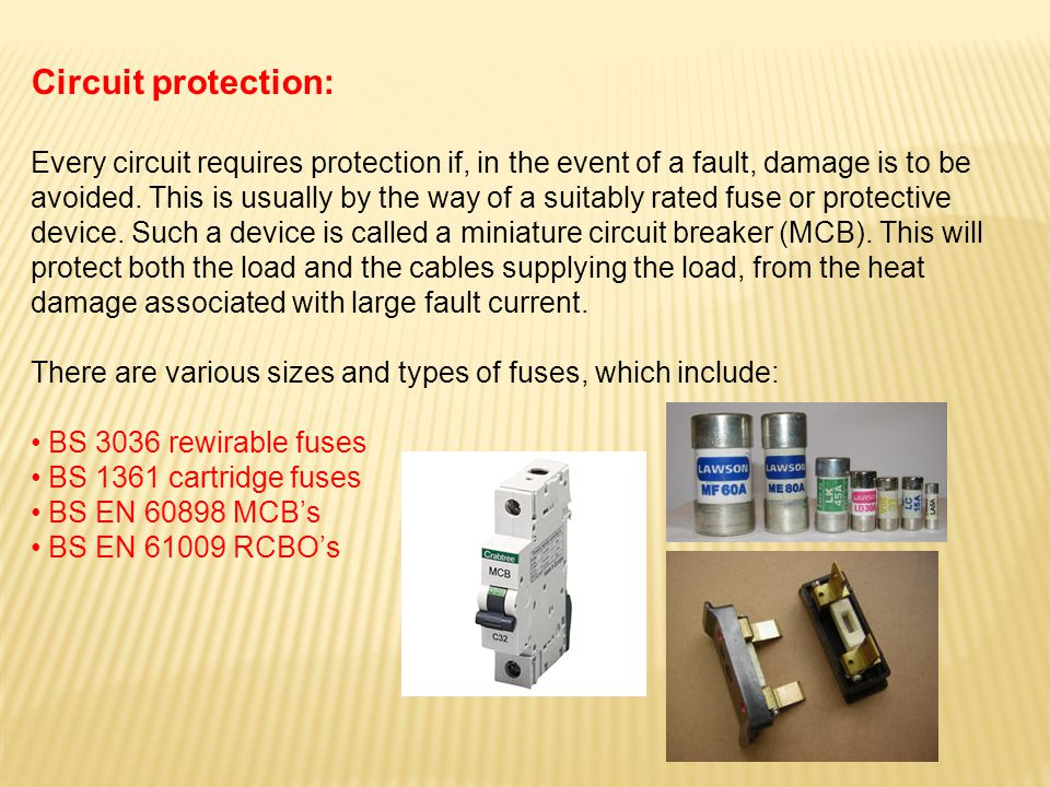 Circuit protection: