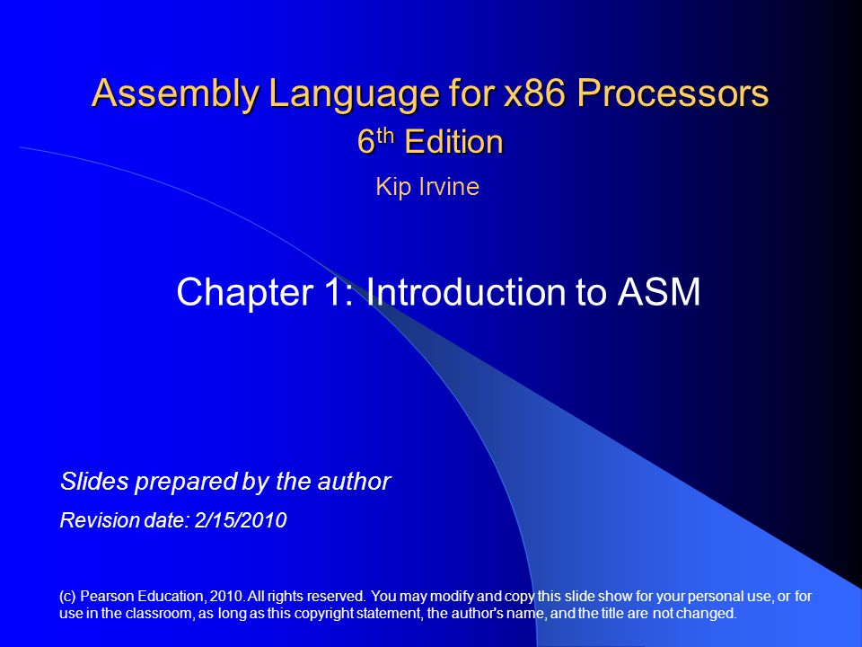 Assembly Language for x86 Processors 6th Edition