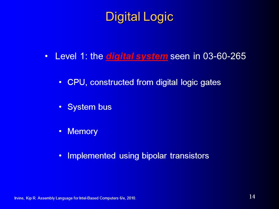 Digital Logic Level 1: the digital system seen in 03-60-265