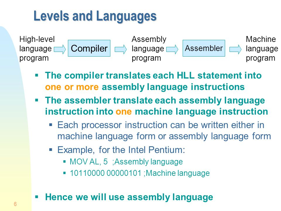 Levels and Languages Compiler