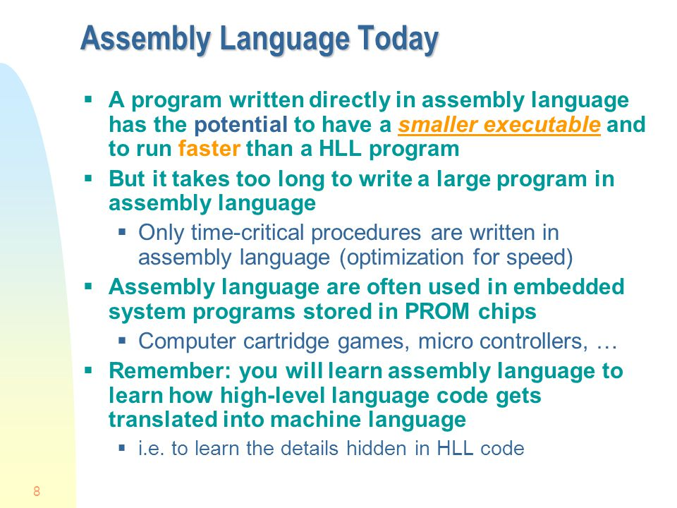 Assembly Language Today
