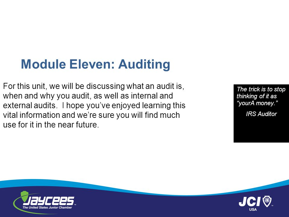 Module Eleven: Auditing