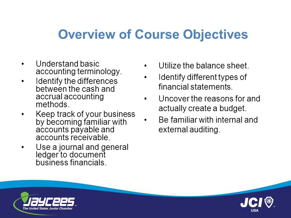 Overview of Course Objectives