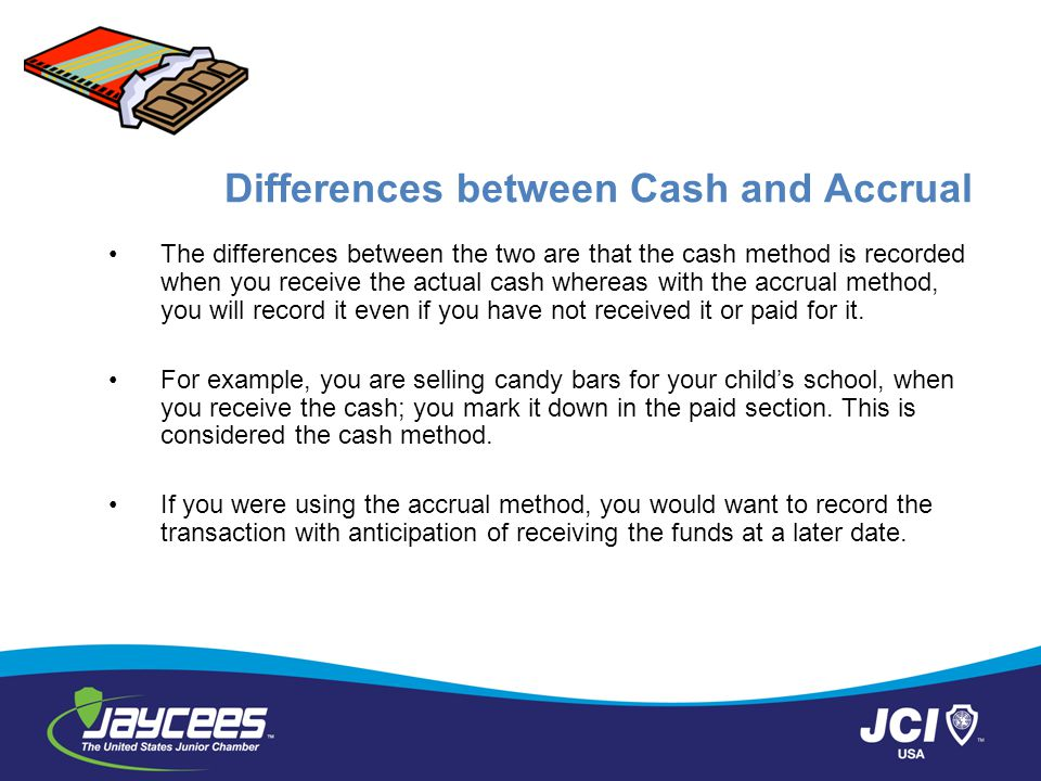 Differences between Cash and Accrual