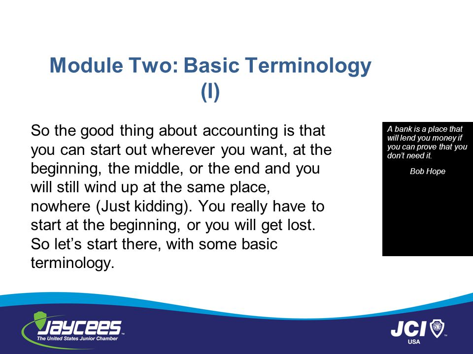 Module Two: Basic Terminology (I)