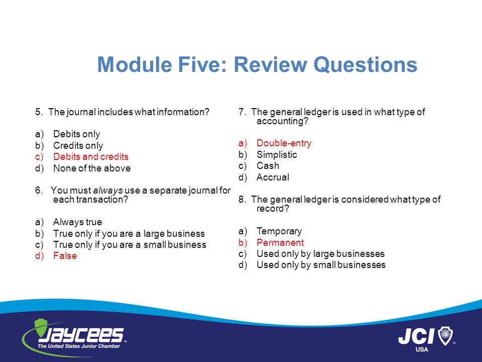 Module Five: Review Questions