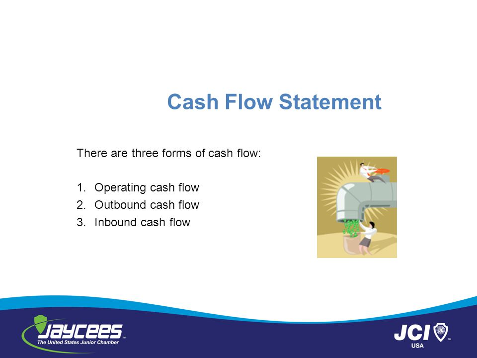 Cash Flow Statement There are three forms of cash flow: