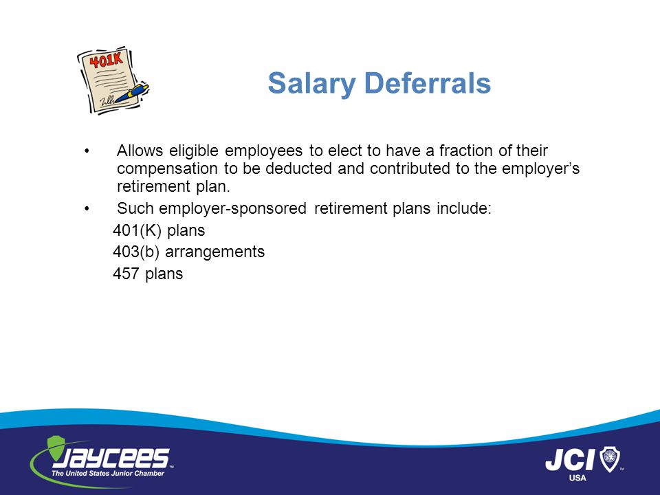Salary Deferrals