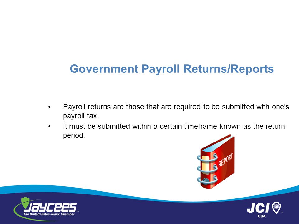 Government Payroll Returns/Reports