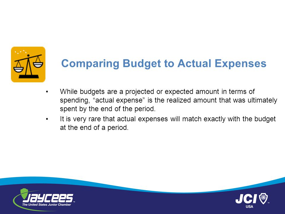 Comparing Budget to Actual Expenses