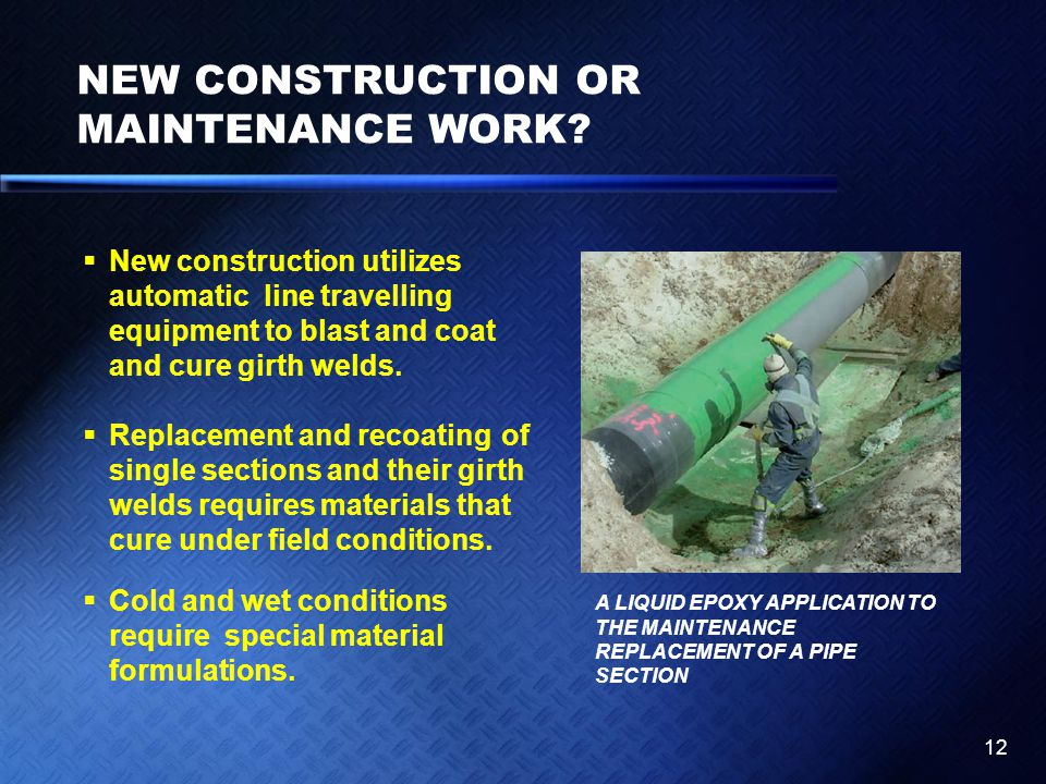 NEW CONSTRUCTION OR MAINTENANCE WORK