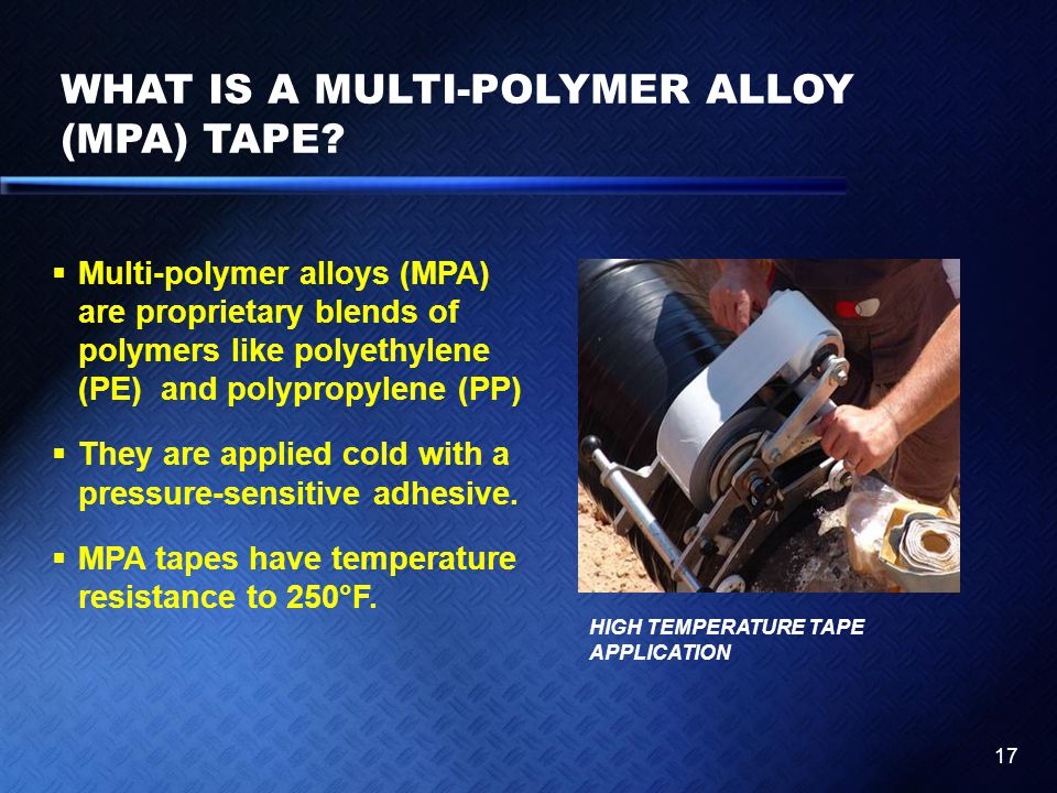 WHAT IS A MULTI-POLYMER ALLOY (MPA) TAPE