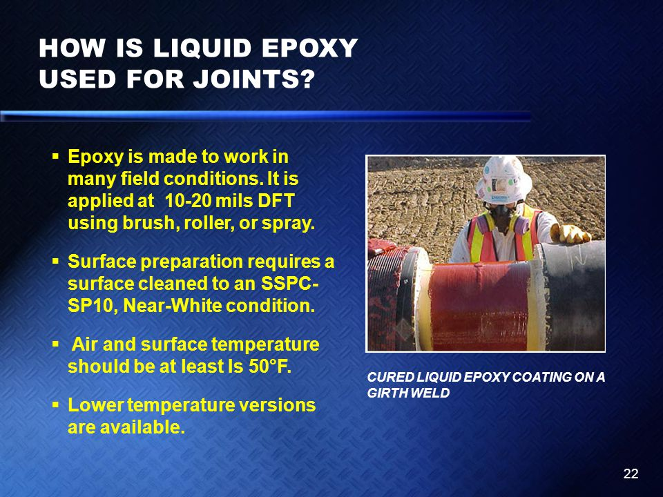 HOW IS LIQUID EPOXY USED FOR JOINTS