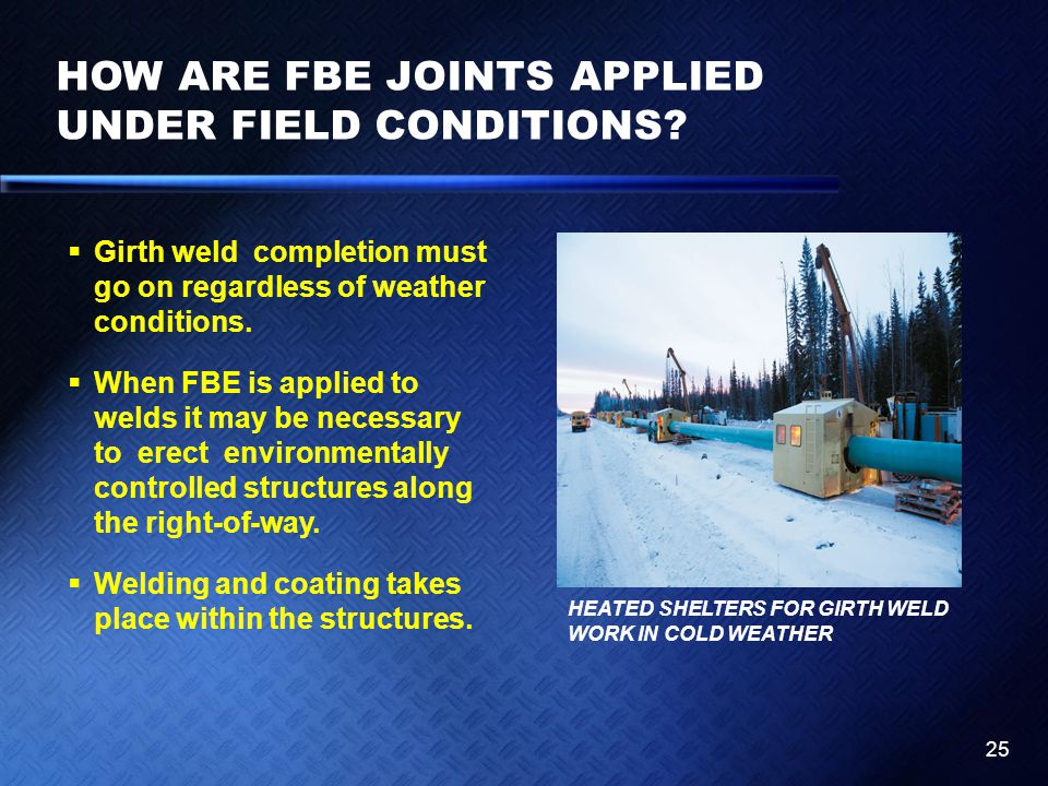 HOW ARE FBE JOINTS APPLIED UNDER FIELD CONDITIONS