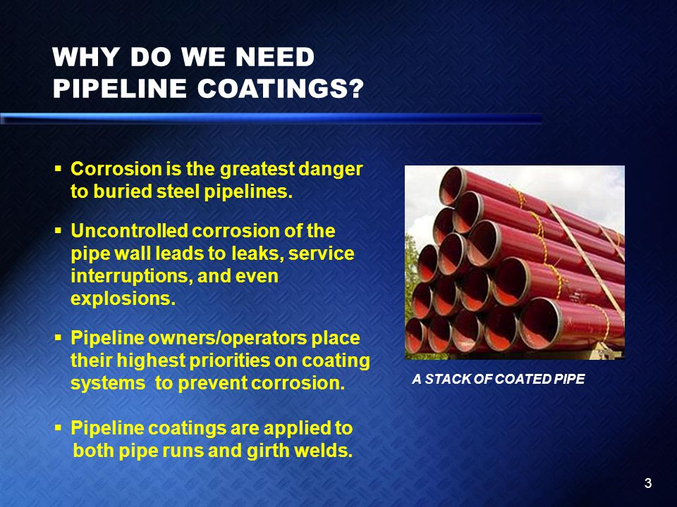 WHY DO WE NEED PIPELINE COATINGS