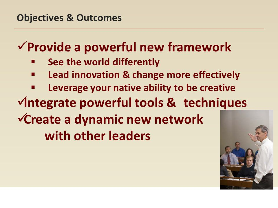 Provide a powerful new framework