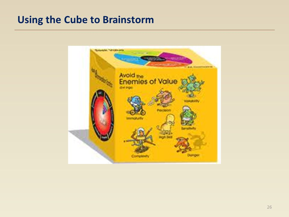 Using the Cube to Brainstorm