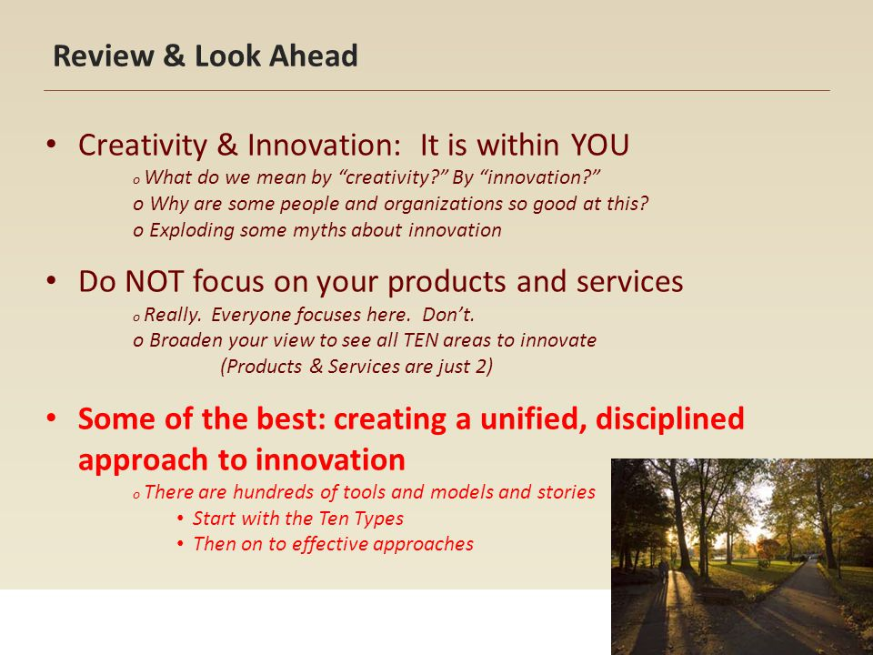 Creativity & Innovation: It is within YOU