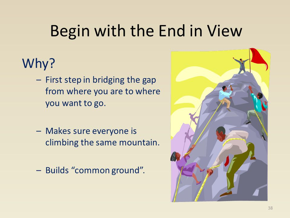 Begin with the End in View